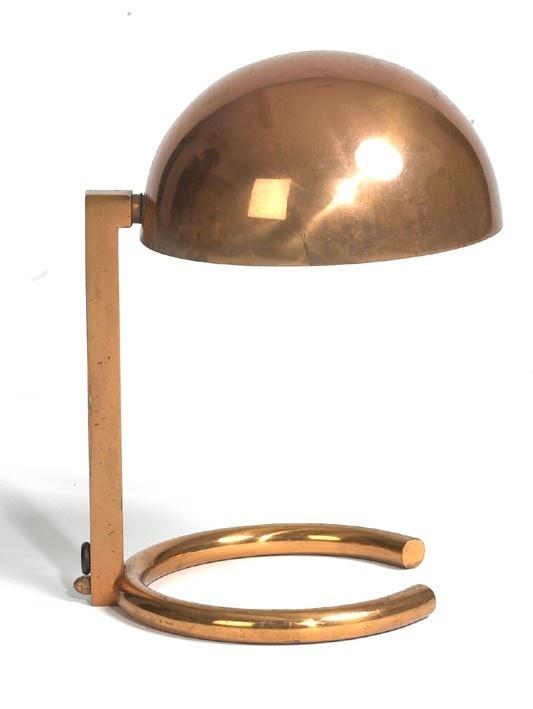 Jacques-Adnet-1930s Đèn bàn cổ- một thú chơi không mới
