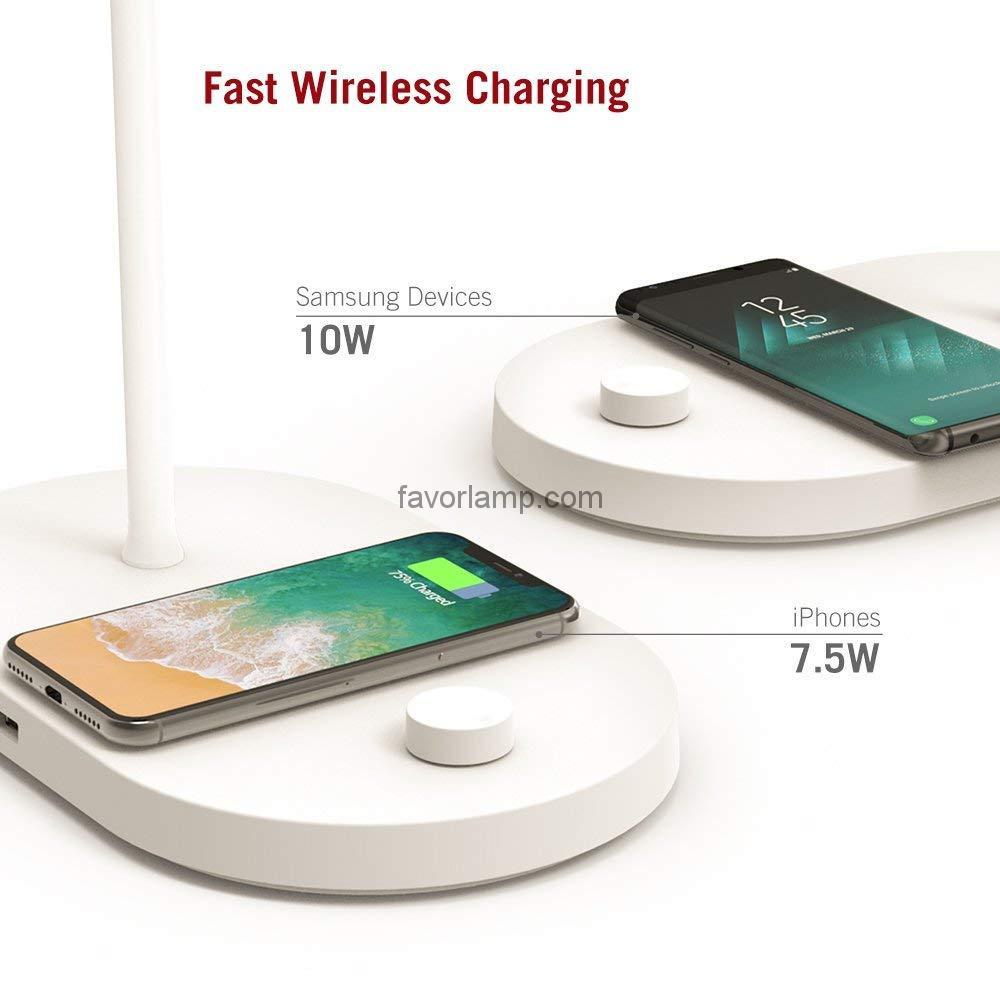 61Wdep-Iu1L._SL1000_ Đèn ngủ TaoTronics tích hợp sạc không dây cho điện thoại TT-CL009